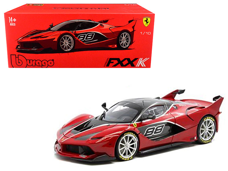 Ferrari FXX-K #88 Red Signature Series 1/18 Diecast Model Car - Bburago - 16907RD