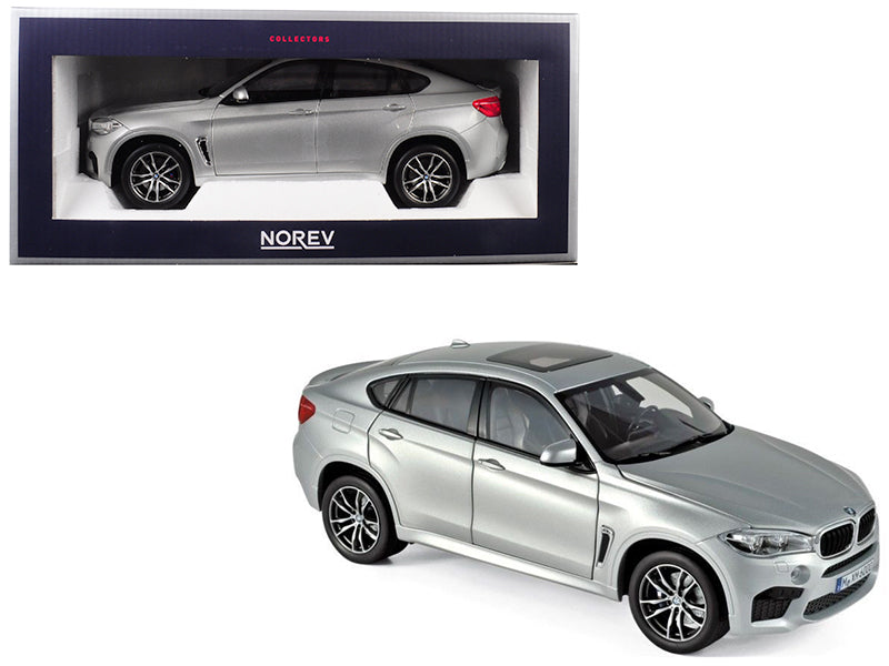 2015 BMW X6 M Silver Metallic 1/18 Diecast Model Car - Norev - 183200