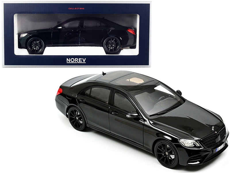 2018 Mercedes Benz S-Class AMG-Line Black 1:18 Diecast Model Car - Norev - 183477