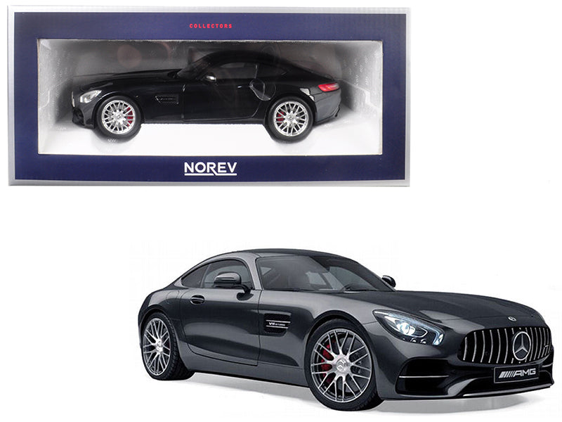 2018 Mercedes Benz AMG GT S Metallic Black 1/18 Diecast Model Car - 183497 - by Norev