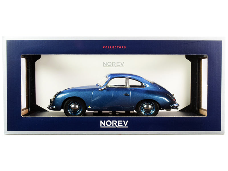 1954 Porsche 356 Coupe Blue Metallic 1:18 Diecast Model Car - Norev - 187450