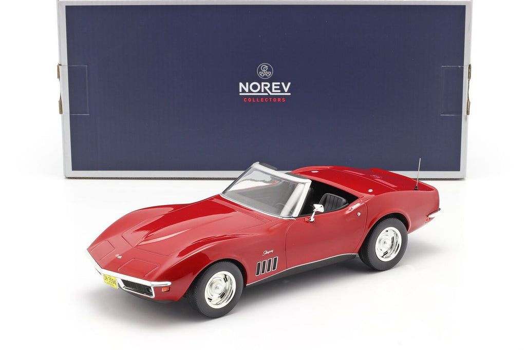 1969 Chevrolet Corvette Stingray Red 1:18 Diecast Model Car - Norev - 189036