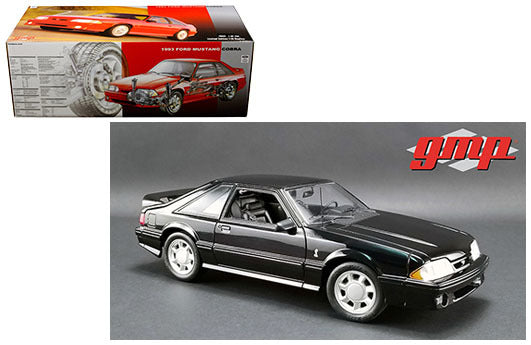 1993 Ford Mustang Cobra 1/18 Scale Diecast Model Black - GMP - 18921