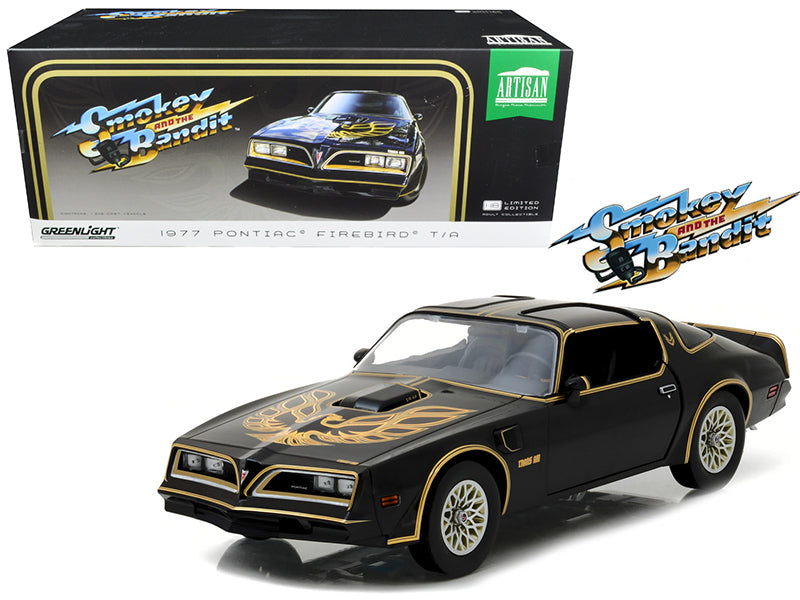 "1977 Pontiac Firebird Trans Am ""Smokey and the Bandit"" (1977) Movie Artisan Collection 1:18 Diecast Model Car - Greenlight - 19025"