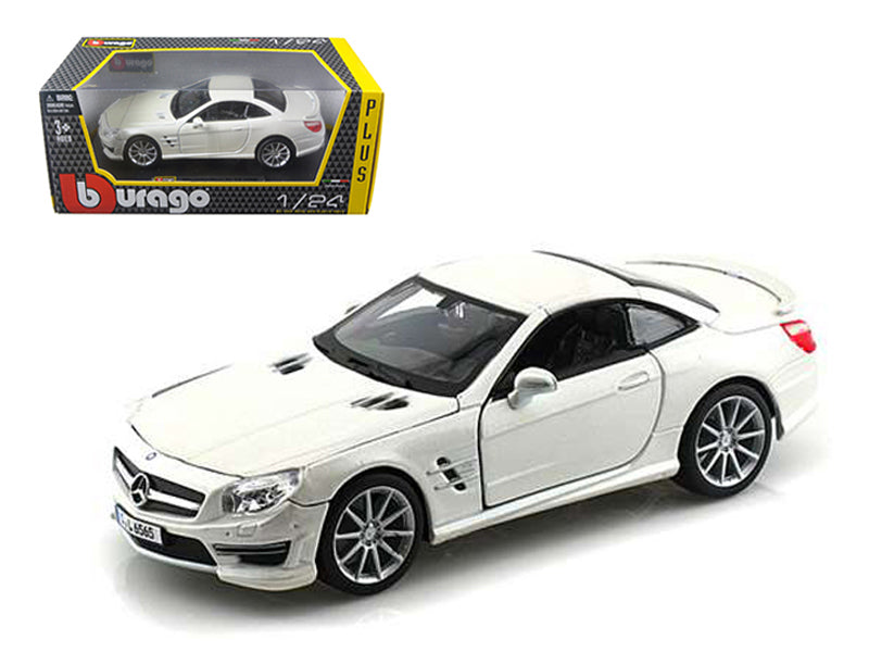 Mercedes SL 65 AMG Coupe White 1/24 Diecast Car Model - Bburago - 21066WH