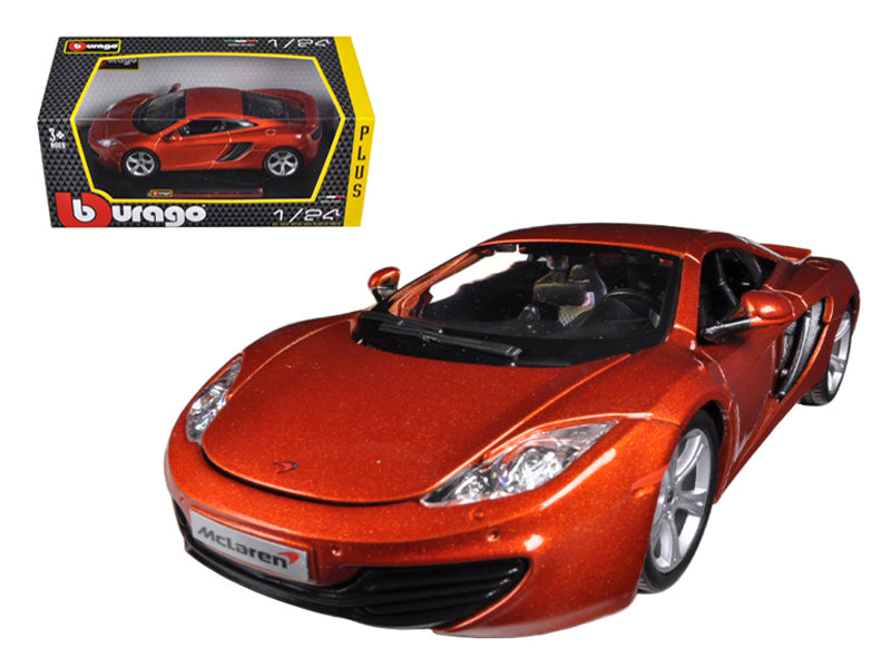 Mclaren MP4-12C Metallic Orange 1:24 Diecast Car Model - Bburago - 21074OR