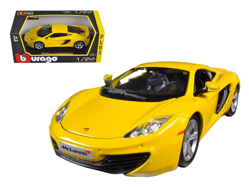 Mclaren MP4-12C Yellow 1:24 Diecast Car Model - Bburago 21074YL
