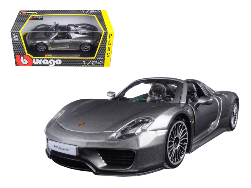 Porsche 918 Spyder 1:24 Diecast Model Car Grey - Bburago - 21076GRY