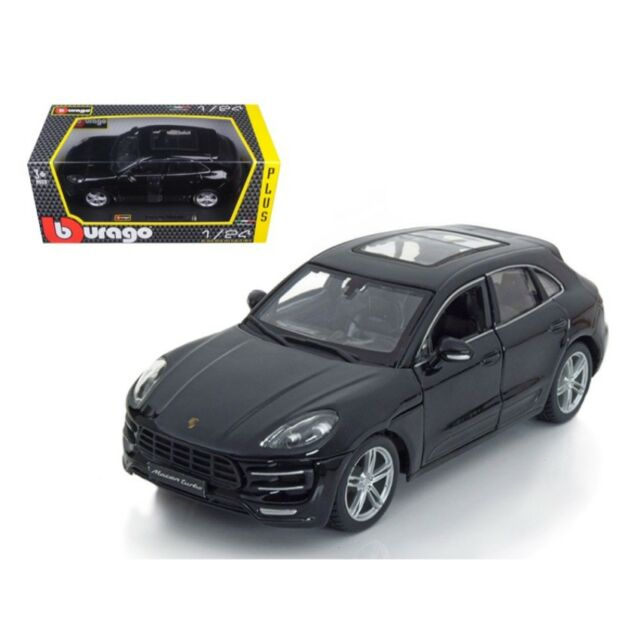 Porsche Macan Turbo Black 1:24 Diecast Model Car - Bburago - 21077BK