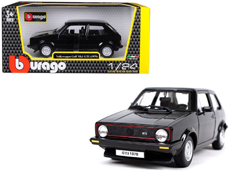 1979 Volkswagen Golf Mk1 GTI Black 1:24 Diecast Model Car - Bburago - 21089BK