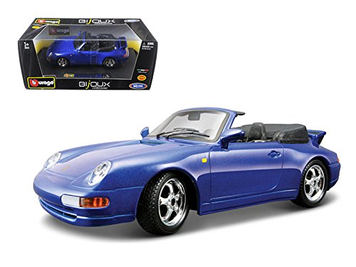 Porsche 911 Carrera Cabriolet Blue 1:24 Diecast Model Car - Bburago - 22080BL