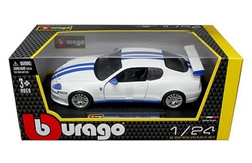 Maserati Trofeo White / Blue 1:24 Diecast Model Car - Bburago - 22097WH