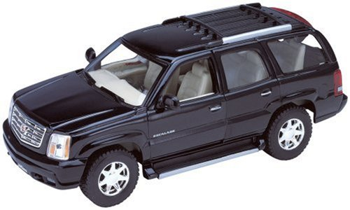 2002 Cadillac Escalade Diecast Model 1:24 Black - Welly - 22412BK