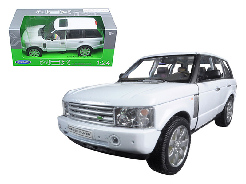 2003 Land Rover Range Rover White 1:24 Diecast Model - Welly - 22415WH