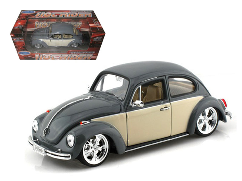Volkswagen Beetle Low Rider Grey 1/24 Diecast Car Model - Welly - 22436LRGRY