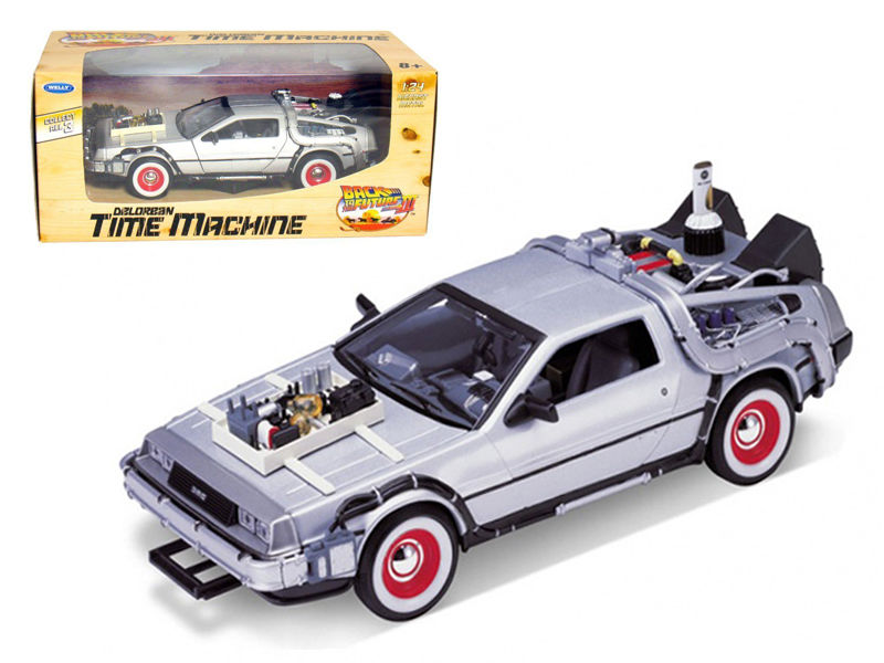 Delorean From Movie Back To The Future III 1:24 Diecast Model Car - Welly - 22444