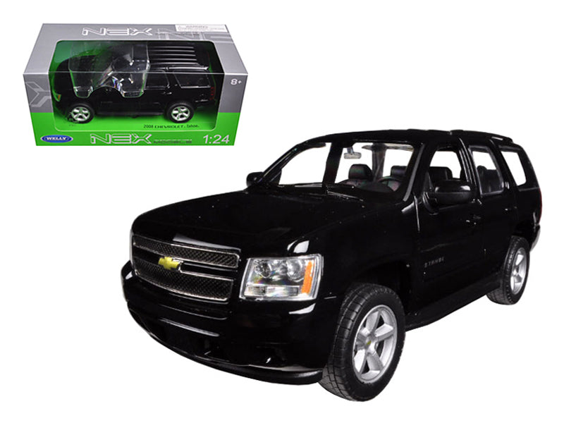 2008 Chevrolet Tahoe Street Version Black 1:24 Diecast Model - Welly - 22509BK
