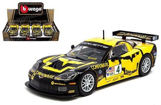 2005 Chevrolet Corvette C6R #4 1:24 Diecast Model Car - Bburago - 24003