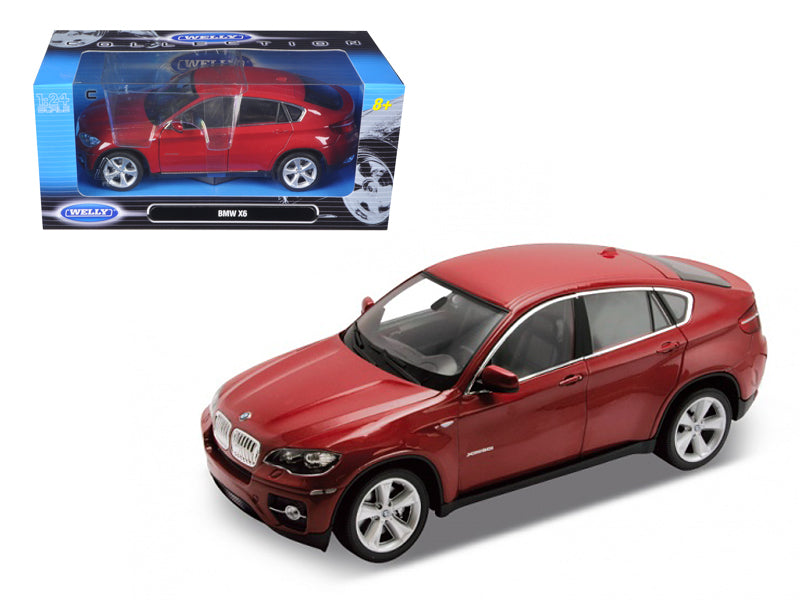 2011 2012 BMW X6 Red 1/24 Diecast Car Model - Welly - 24004RD