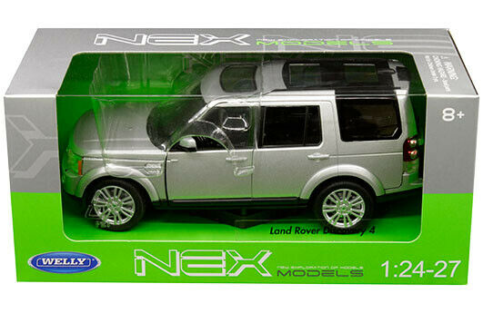 Land Rover Discovery 4 Silver 1:24-1:27 Diecast Model Car - Welly - 24008SIL