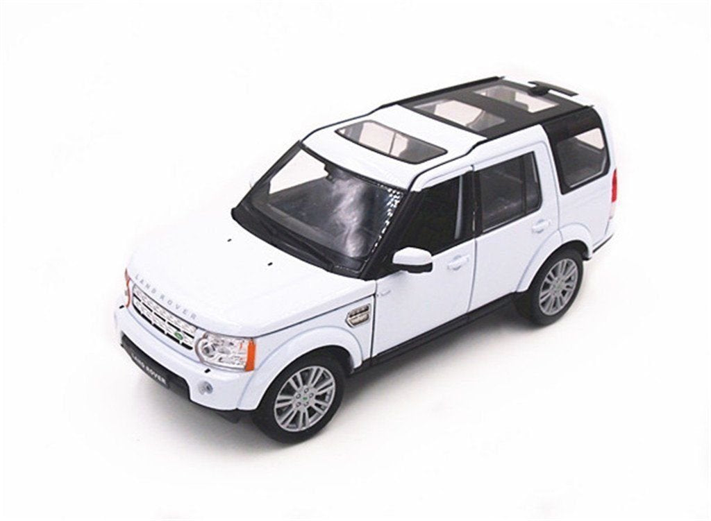 Land Rover Discovery 4 White 1/24 Scale Diecast Model Car - Welly - 24008