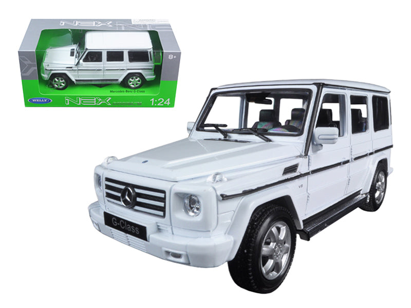 Mercedes Benz G Class Wagon White 1/24 Diecast Model Car - Welly - 24012