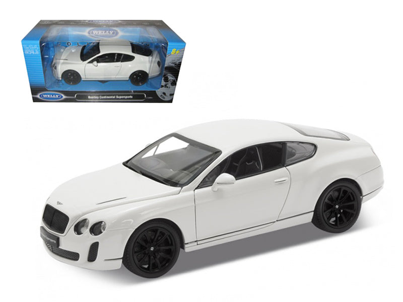 Bentley Continental Supersports Hardtop White 1:24 Scale Diecast Model Car - Welly - 24018WH
