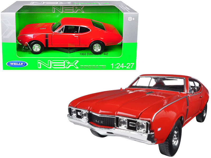 1968 Oldsmobile 442 Red 1:24-1:27 Diecast Model Car - Welly - 24024RD