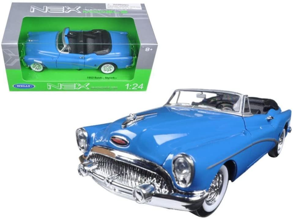 1953 Buick Skylark Convertible Blue 1:24 Diecast Model Car - Welly - 24027BL