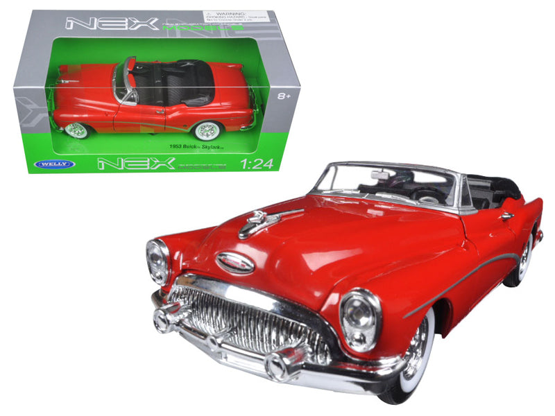 1953 Buick Skylark Convertible Red 1:24 Diecast Model Car - Welly - 24027RD