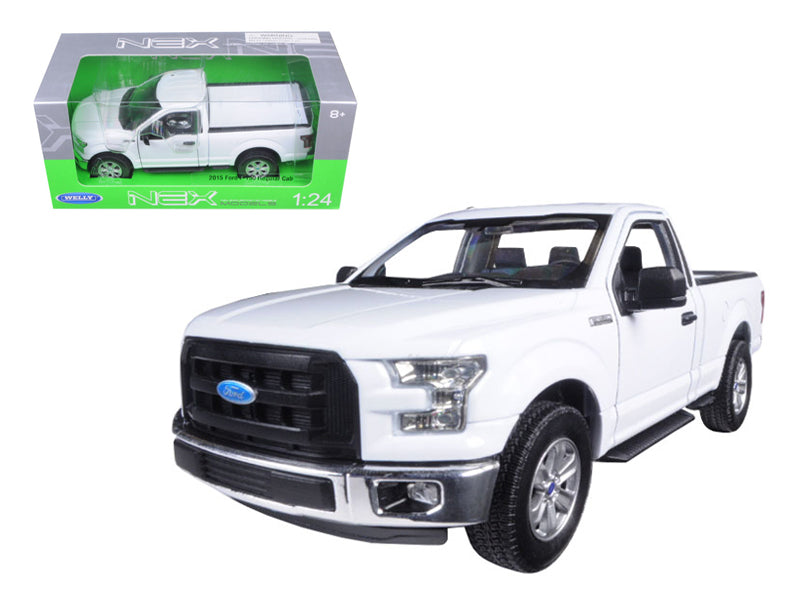 2015 Ford F-150 Regular Cab Pickup Truck White 1/24-1/27 Diecast Model Car - Welly - 24063WH