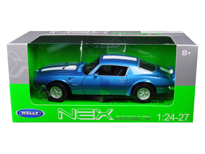 1972 Pontiac Firebird Trans Am Blue 1:24 - 1:27 Model - 24075BL