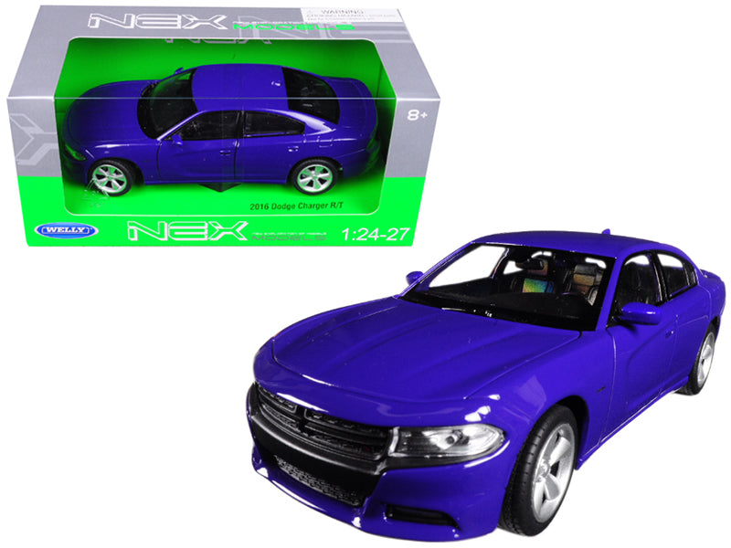 2016 Dodge Charger R/T Purple 1/24 - 1/27 Diecast Model Car - Welly - 24079