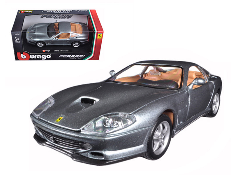 Ferrari 550 Maranello Grey 1/24 Diecast Model Car - Bburago - 26004GRY