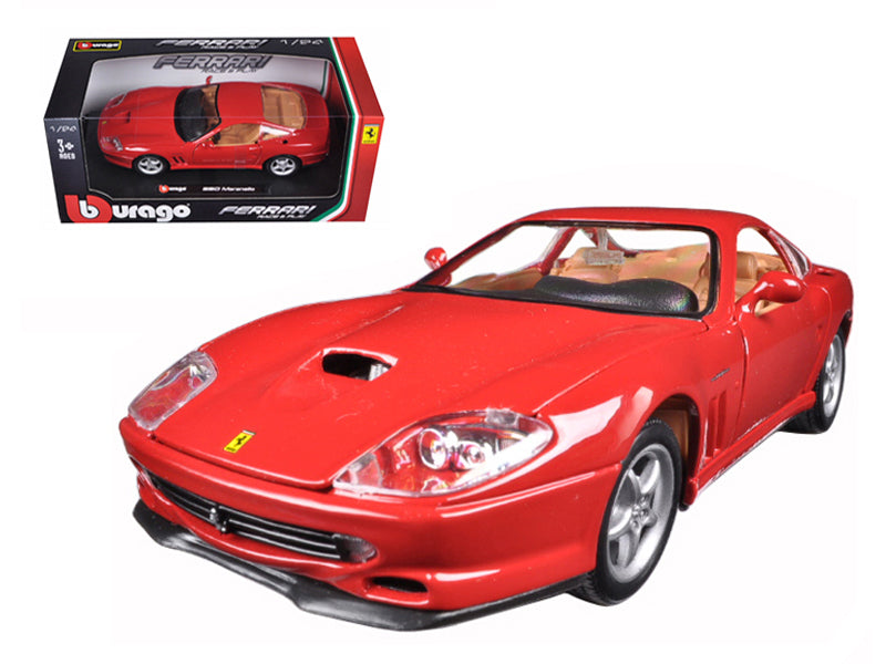 Ferrari 550 Maranello Red 1/24 Diecast Model Car - Bburago - 26004RD