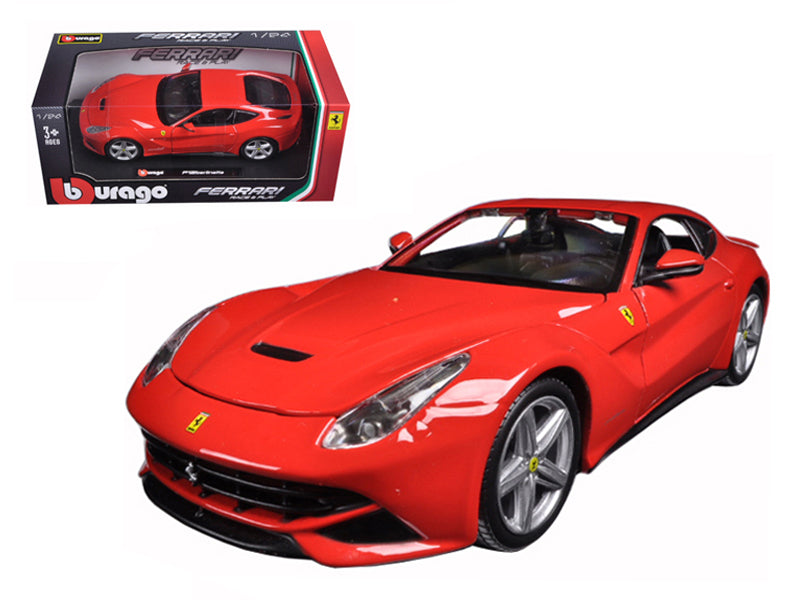 Ferrari F12 Berlinetta Red 1:24 Diecast Model Car - Bburago - 26007