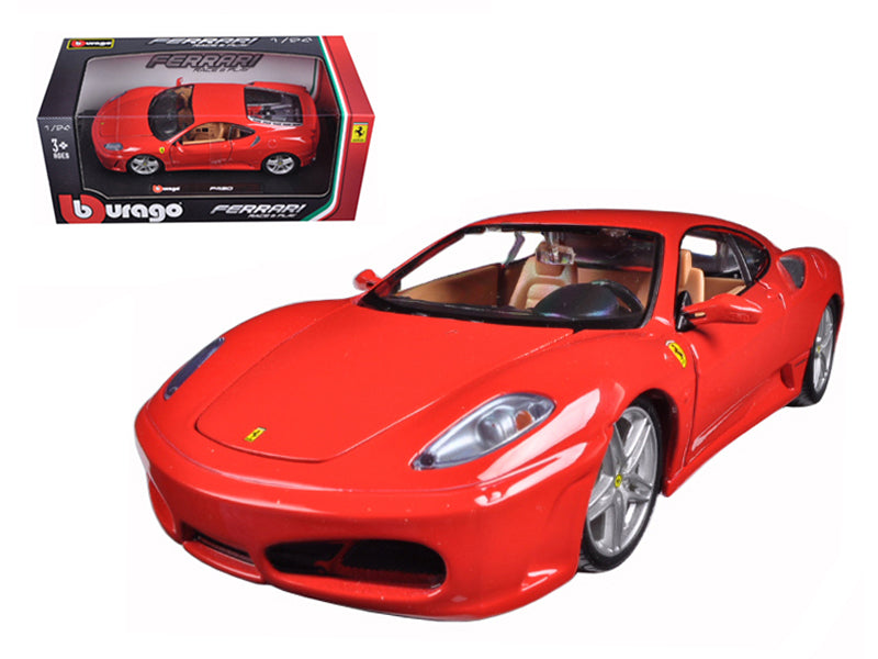 Ferrari F430 Red 1:24 Diecast Model Car - Bburago - 26008RD