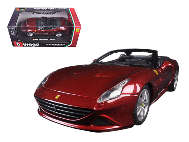 Ferrari California T Red Open Top 1:24 Diecast Model Car - Bburago 26011RD