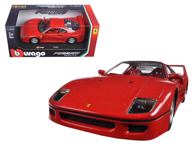 Ferrari F40 Red 1:24 Diecast Model Car - Bburago - 26016RD