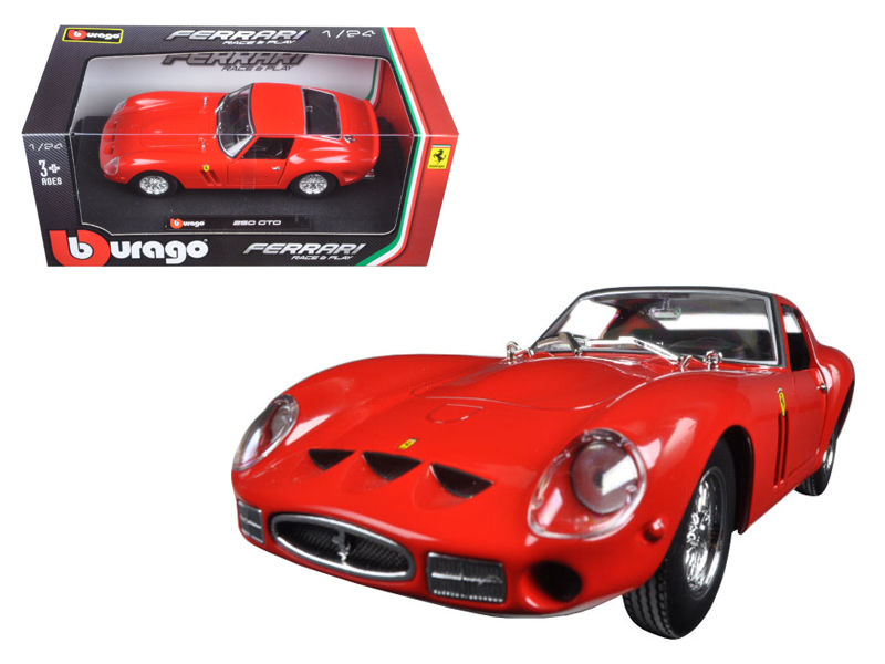 Ferrari 250 GTO Red 1:24 Diecast Model Car - Bburago - 26018RD