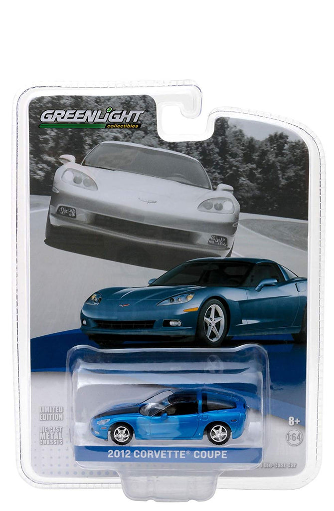 2012 Chevrolet Corvette C6 Supersonic Blue General Motors Collection Series 1 1:64 Diecast Model Car - Greenlight - 27870B