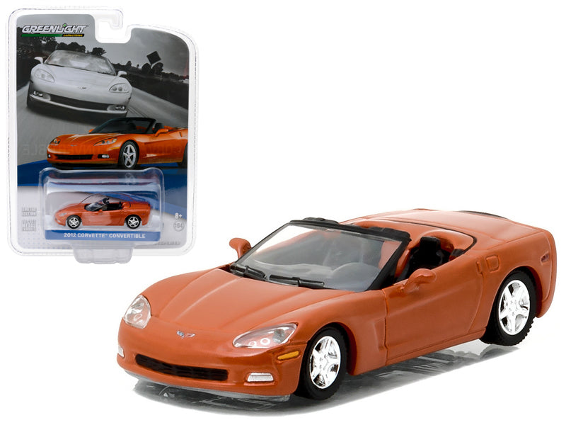 2012 Chevrolet Corvette Convertible Inferno Orange General Motors Collection Series 1 1:64 Diecast Model Car - Greenlight - 27870C