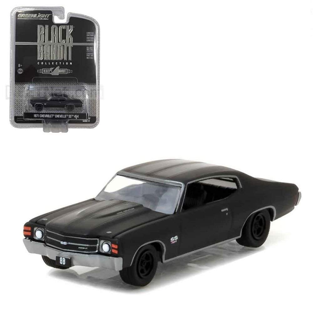 1971 Chevrolet Chevelle SS 454 Black Bandit 1:64 Diecast Model - Greenlight - 27910B