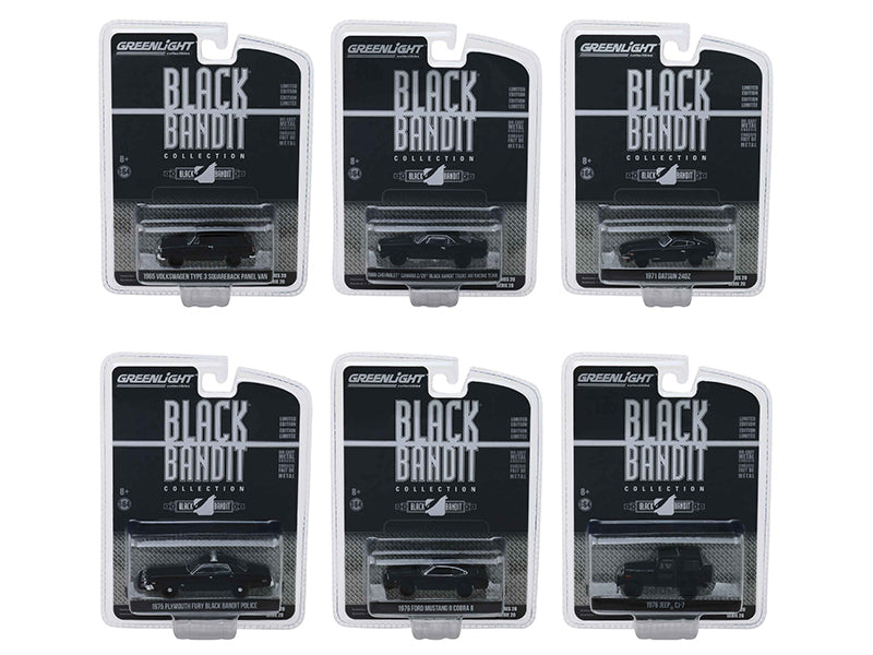 Black Bandit Series 20, Set of 6 Cars 1/64 Diecast Models - Greenlight - 27960SET