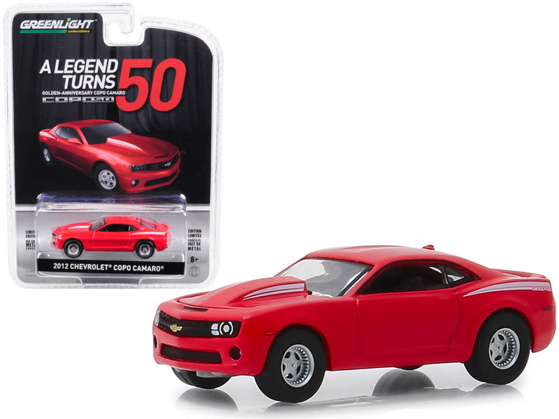 "2012 Chevrolet COPO Camaro ""COPO Turns 50"" Red ""Anniversary Collection"" Series 8 1:64 Diecast Model Car - Greenlight - 27980D"
