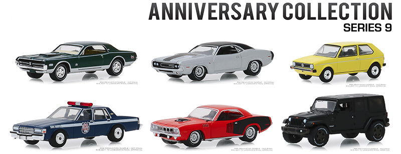Anniversary Collection Series 9, 6pc Diecast Car Set 1/64 Diecast Model Cars - Greenlight - 28000SET