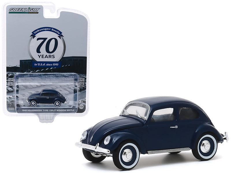 "1949 Volkswagen Beetle Type 1 Split Window ""Volkswagen Beetle in U.S.A. 70th Anniversary"" ""Anniversary Collection"" Series 10 Model 1:64 Diecast - Greenlight - 28020A"
