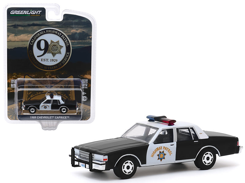"1989 Chevrolet Caprice Police Car ""CHP"" ""California Highway Patrol 90th Anniversary"" ""Anniversary Collection"" Series 10 Model 1:64 Diecast - Greenlight - 28020C"