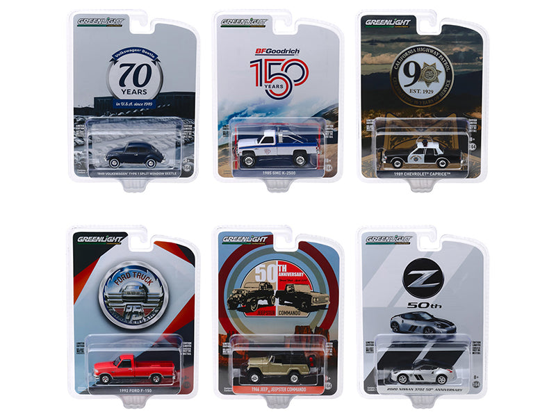 """Anniversary Collection"" Series 10 Set of 6 Models 1:64 Diecast Model - Greenlight - 28020"