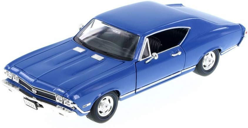 1968 Chevrolet Chevelle SS 396 Hardtop 1:24 Diecast Model Car - Welly - 29397BL
